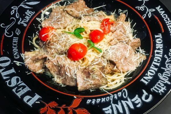 Итальянская паста с говядиной