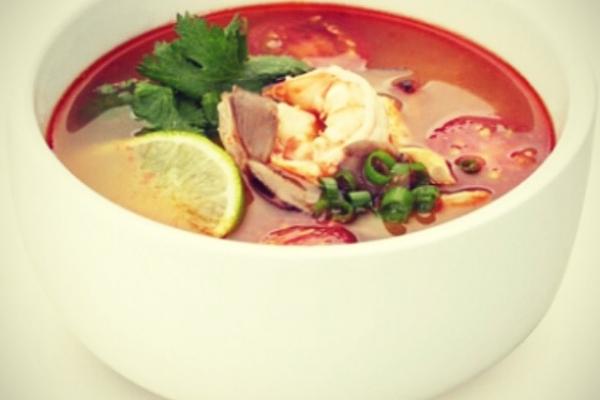 """Суп """"Том Ям Кай"""" с морепродуктами"""